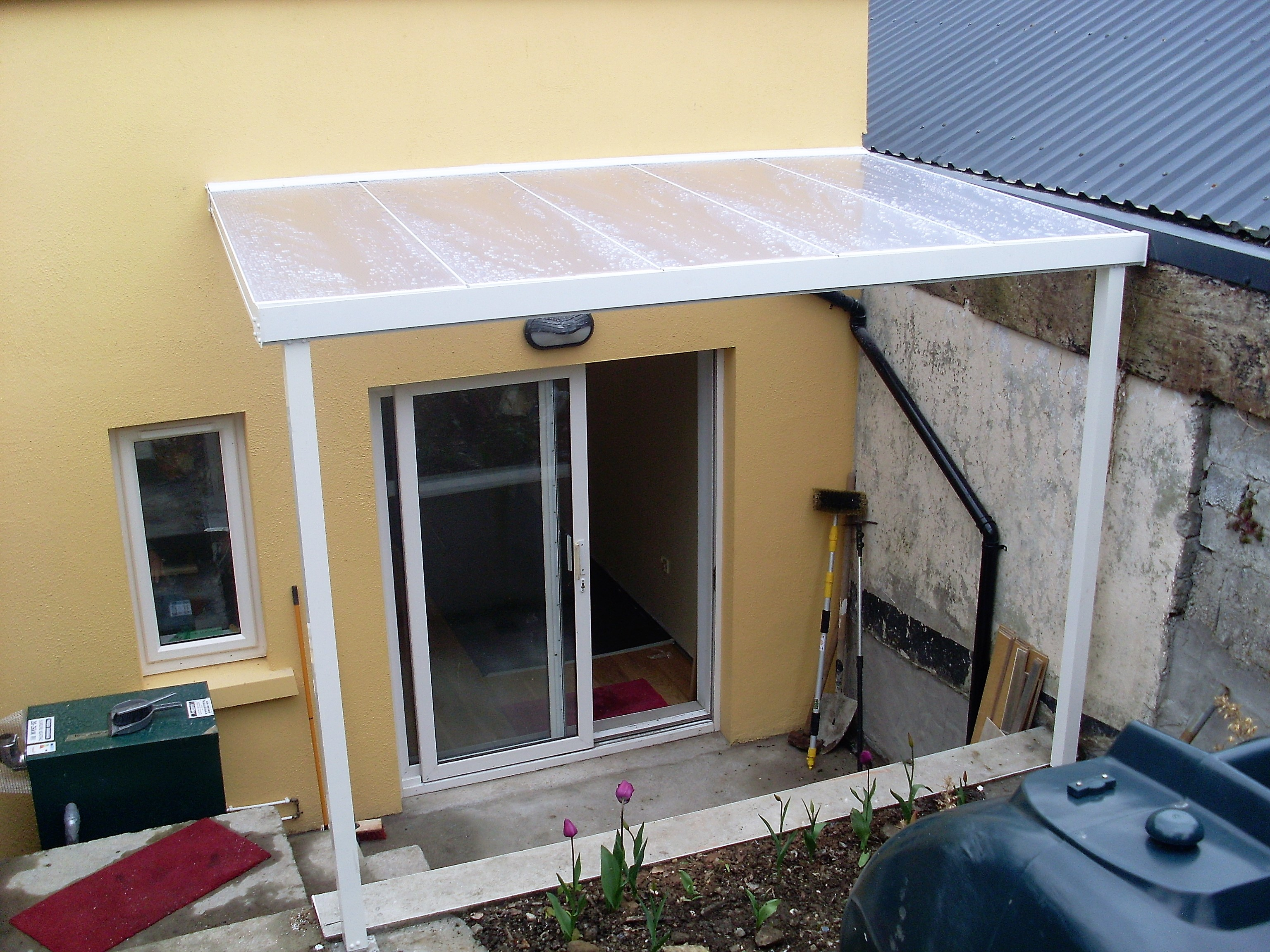 Bathroom Makeover Galway self supporting canopy kit and pvc wall cladding for cafe in