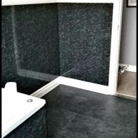 Black Pvc Bathroom and Flooring