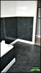 Black Pvc Bathroom and Flooring