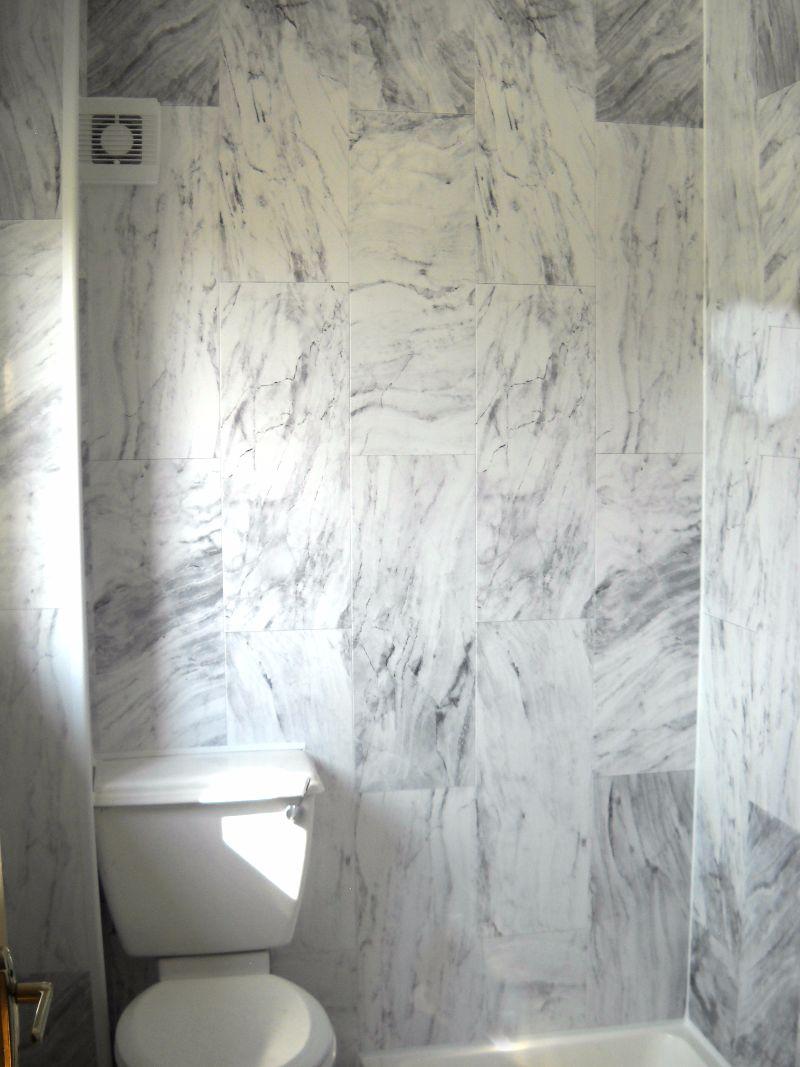 Grey Marble PVC Bathroom