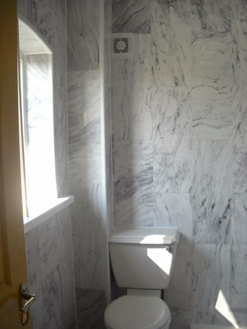 Grey Marble Tile Bathroom Transformation Enviroclad Hygienic