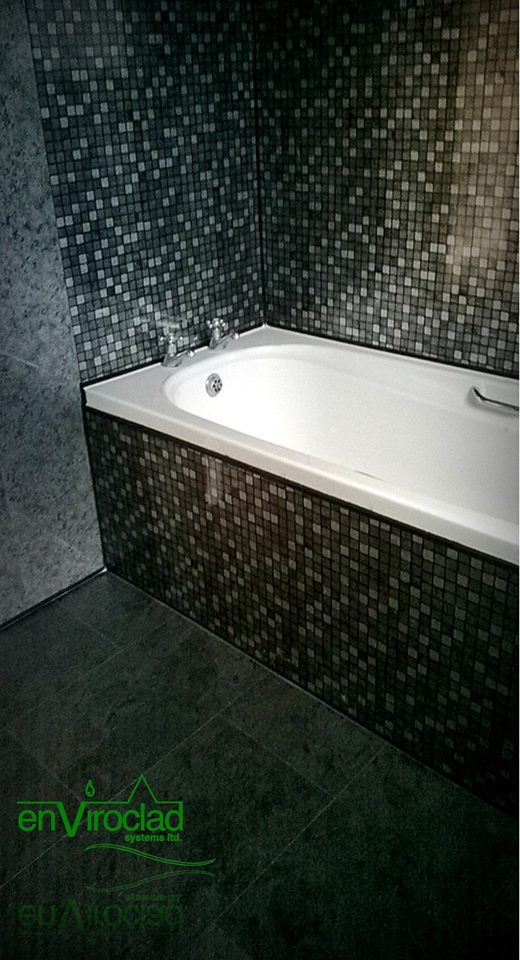 Enviroclad Black mosaic and Ocean Slate