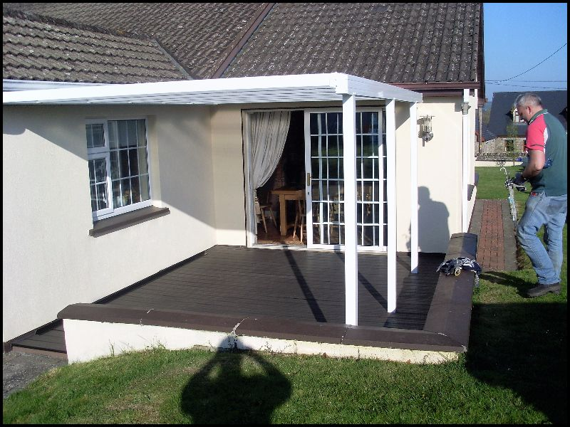 Self Supporting Canopy Over Composite Decking Enviroclad