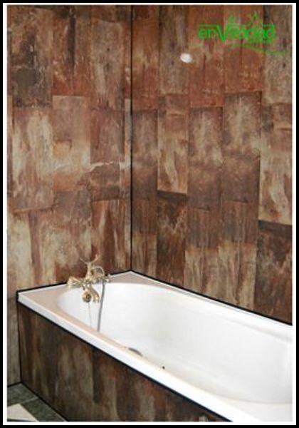 Millennium Decor Bronze Tile walls and bath panell