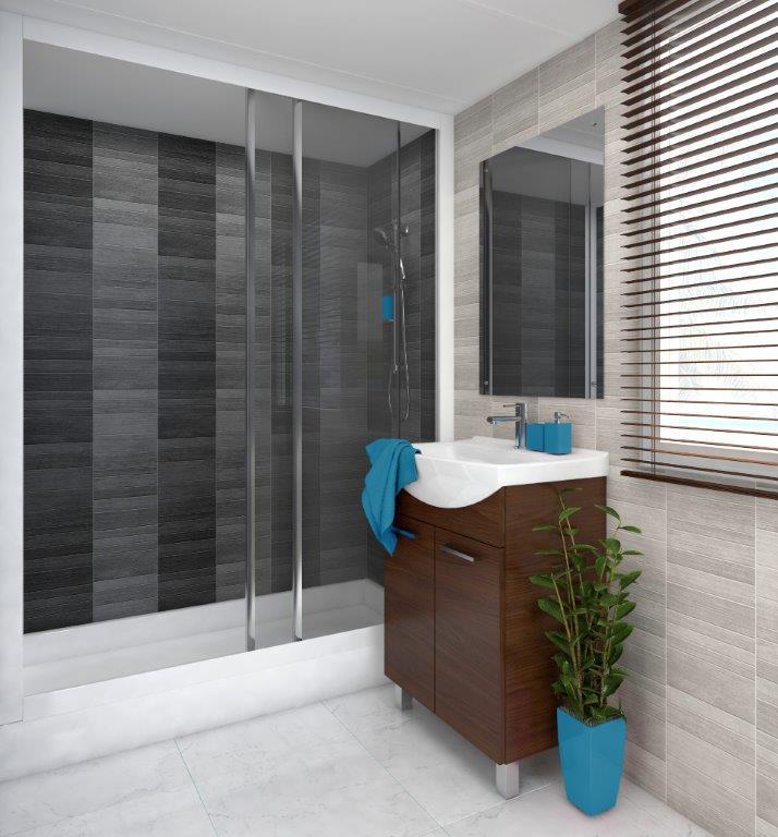 Modern Tile Anthracite Pvc wall panels (3)