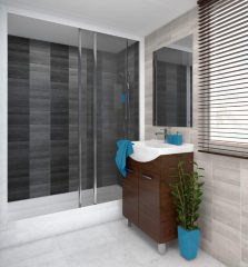 Modern Tile Anthracite Pvc wall panels (3)